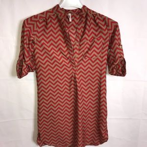 Truth NYC Dresses - Truth NYC Chevron Shirt/Dress Size Large